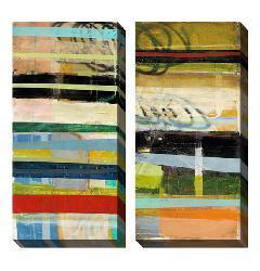 Gallery Direct Benjamin Deal 'Popular Thesis' Oversized Canvas Art Set