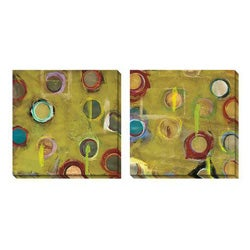 Gallery Direct Benjamin Deal 'Invention in Green' Canvas Art Set