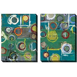 Gallery Direct Benjamin Deal 'Invention in Blue' Oversized Canvas Art Set