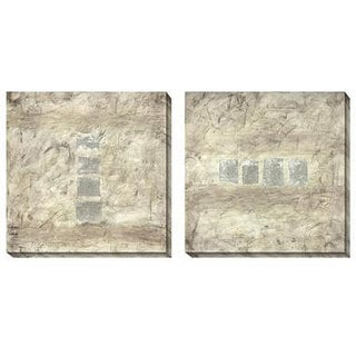 Gallery Direct Jane Bellows 'Relatively Silver' Oversized Canvas Art Set