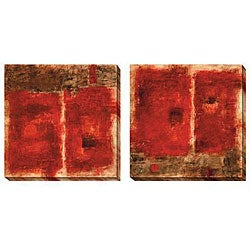 Gallery Direct Jane Bellows 'Quality Control Red' Oversized Canvas Art Set