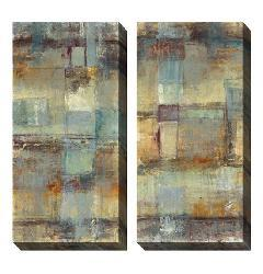 Gallery Direct Jane Bellows 'Resurgence' Oversized Canvas Art Set - Thumbnail 1