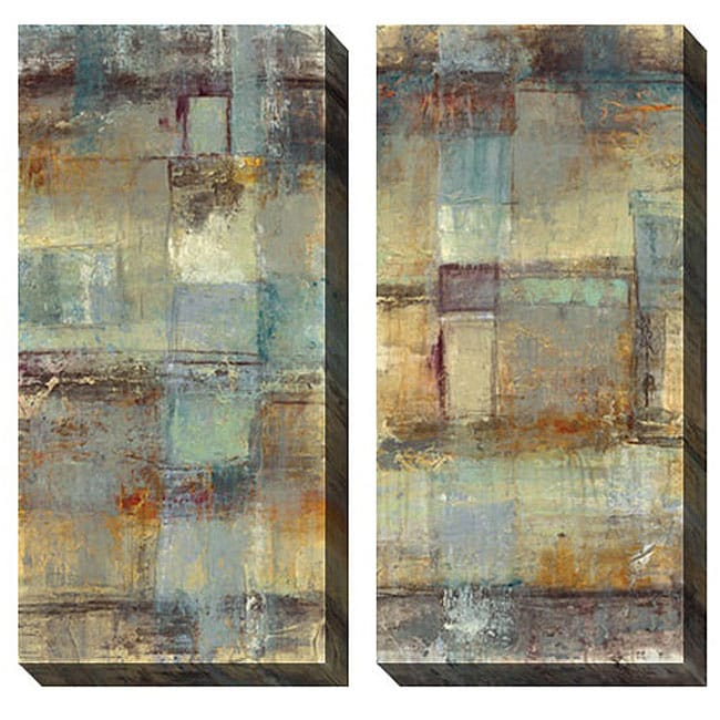Gallery Direct Jane Bellows 'Resurgence' Oversized Canvas Art Set