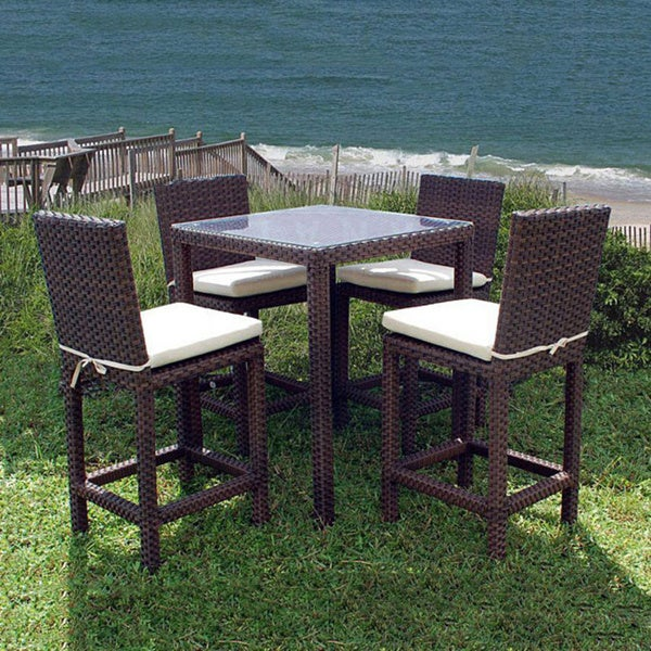 Wonderful Atlantic Outdoor Olivia 5 Piece Bar Set