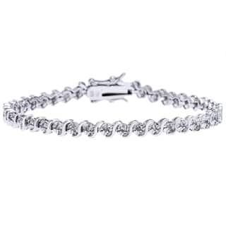 Sterling Silver 1/4ct TDW Diamond Bracelet|https://ak1.ostkcdn.com/images/products/4287543/Sterling-Silver-1-4ct-TDW-Diamond-Bracelet-I3-I-J-P12268644.jpg?impolicy=medium