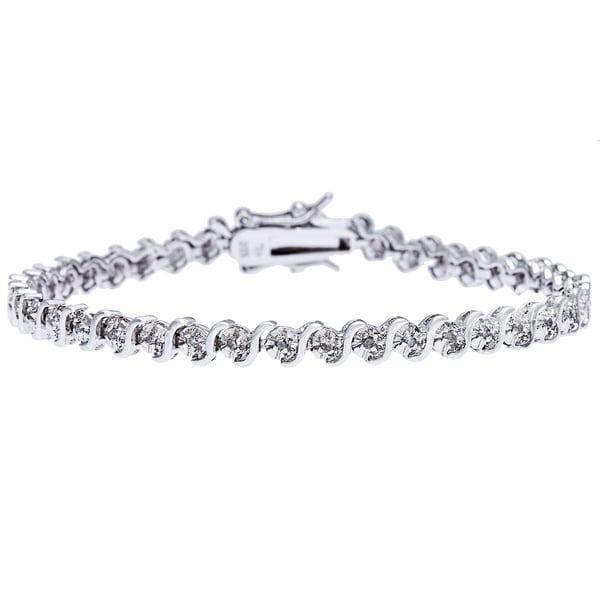 Sterling Silver 1/4ct TDW Diamond Bracelet (I3, I-J)
