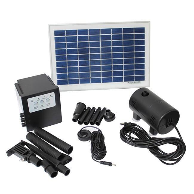 SUN Solar Powered 8-watt 18-volt Water Pump with Battery ...