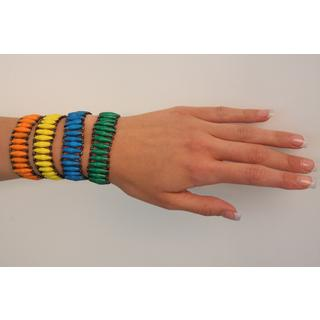 Handmade Set of 2 Recycled Namuwongo Paper Bracelet (Uganda) (Option: Green)