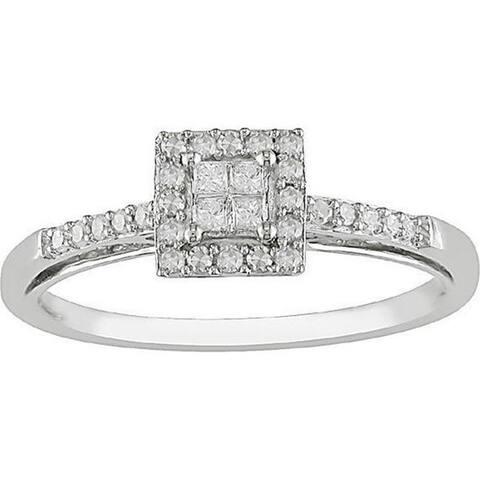 Miadora 10k Gold 1/5ct TDW Diamond Ring