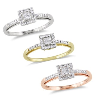 Miadora 10k Gold 1/5ct TDW Diamond Ring