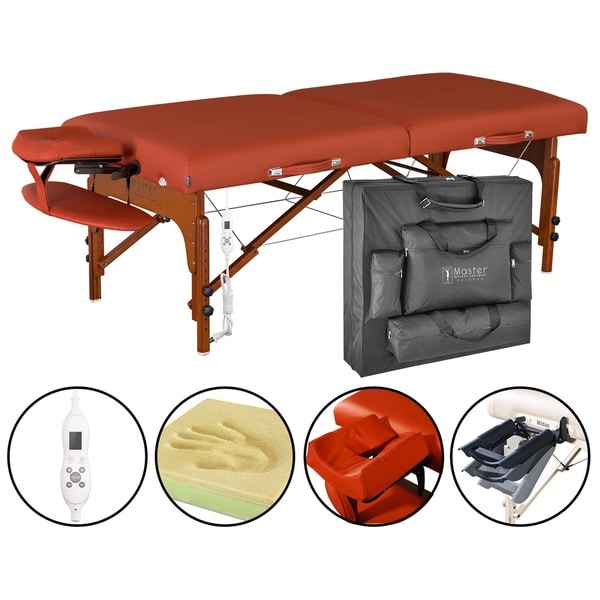 Master Massage Santana Therma Top 31-inch LX Massage Table with Accessories