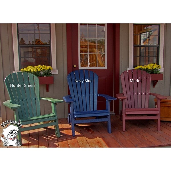 forever phat tommy recycled poly folding adirondack chair 701