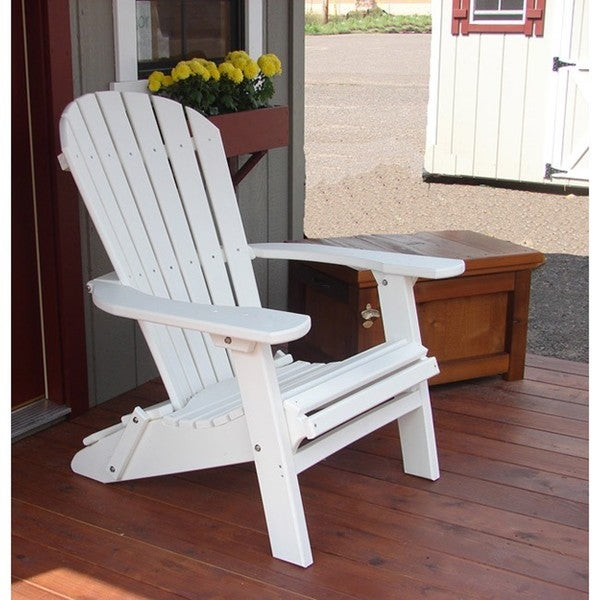 PHAT TOMMY Recycled Polywood Deluxe Folding Adirondack Chair   Free  Shipping Today   Overstock.com   12271174