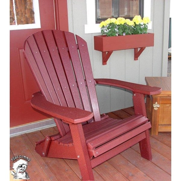 phat tommy recycled polywood deluxe folding adirondack chair - Polywood Adirondack Chairs