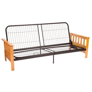 Pine Canopy White River Futon Sofa Sleeper Frame (Option: Full-size Frame Natural Finish)