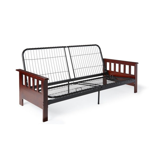Provo full or queen size mission style futon sofa sleeper for Mission style bed frame plans