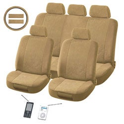 Plush Classic Tan 12-piece Universal Fit Seat Cover Set (Airbag-friendly)