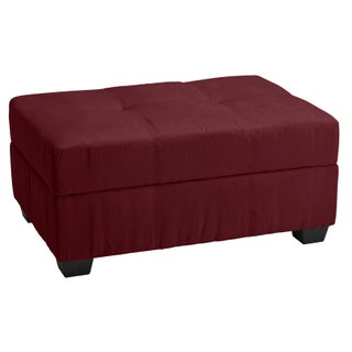 Clay Alder Home Malad Tufted Panel Storage Ottoman Bench (Option: Microfiber Suede Wine Red)