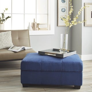 Epic Furnishings Vanderbilt Tufted Panel Stitched Padded Hinged 36 x 24-inch Rectangular Storage Ottoman Bench