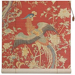 Handmade Red Phoenix 36-inch Bamboo Blind (China)