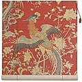 Handmade Red Phoenix 48-inch Bamboo Blind (China)