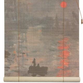 Monet's 'Impression Sunrise' 48-inch Bamboo Blind (China)