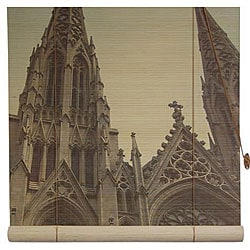 Handmade St. Patrick's Cathedral 48-inch Bamboo Blind (China)