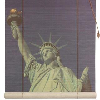 Handmade Statue of Liberty 36-inch Bamboo Blind (China)