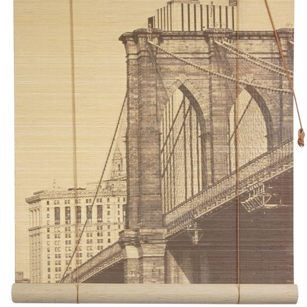 Handmade Brooklyn Bridge 36-inch Bamboo Blind (China)