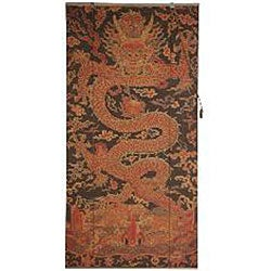 Handmade Dragon Design 36-inch Bamboo Blind (China) - Thumbnail 2
