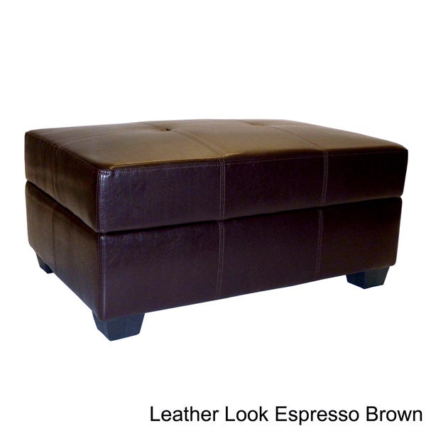 Vanderbilt Leather Look Storage Ottoman