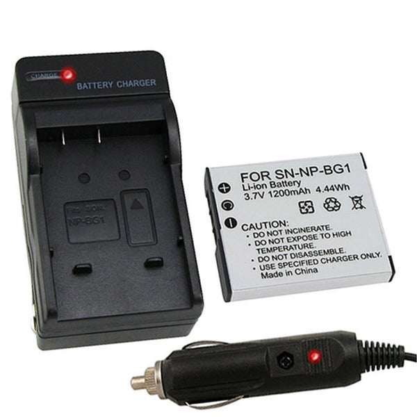 INSTEN Camera Battery and Charger for Sony Cybershot BG1 DSC-W120