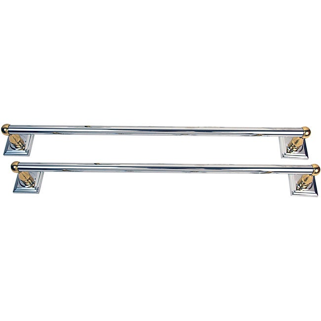 Moen Monaco Chrome and Brass 2-piece 24-inch Towel Bar Set