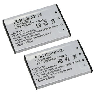 INSTEN Battery for Casio Exilm Digital Camera NP20 NP-20 (Pack of 2)