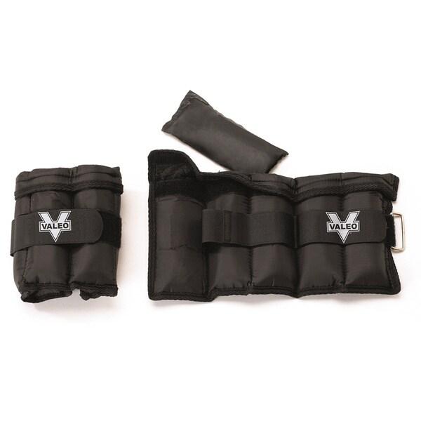 Valeo VA4533BK 5-pound Adjustable Ankle/Wrist Weights