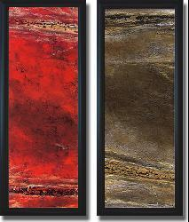 Kerry Darlington 'Lava & Suzuki' Framed Canvas Art Set - Thumbnail 2