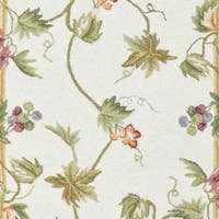 Safavieh Hand-hooked Flora Ivory Wool Rug - 3' x 10' Runner