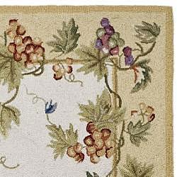 Safavieh Hand-hooked Flora Ivory Wool Rug (3' x 12') - Thumbnail 1