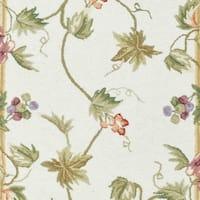 Safavieh Hand-hooked Flora Ivory Wool Rug - 3' x 12' Runner