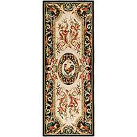 Safavieh Hand-hooked Rooster Ivory/ Black Wool Runner (3' x 6') - 3' x 6'