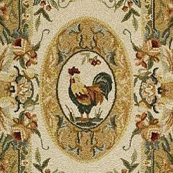 Safavieh Hand-hooked Rooster Taupe Wool Runner (3' x 12')