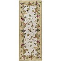 Safavieh Hand-hooked Flora Ivory Wool Rug - 3' x 8'
