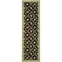 Safavieh Hand-hooked Pineapple Trellis Black/ Ivory Wool Rug - 3' x 10'