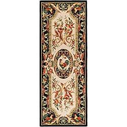 Safavieh Hand-hooked Rooster Ivory/ Black Wool Runner (3' x 8')