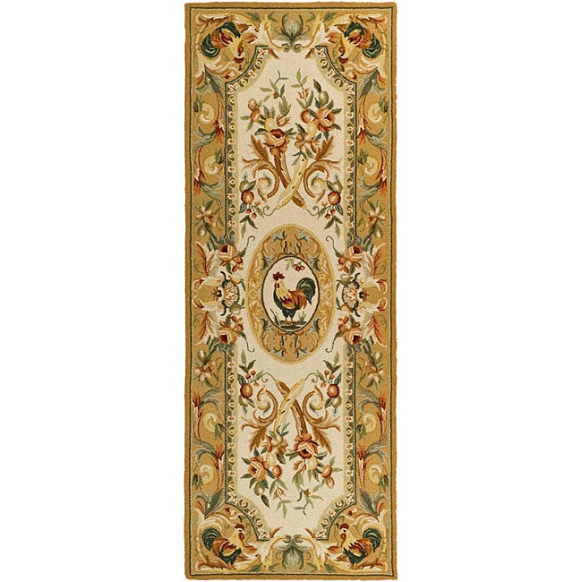 Safavieh Hand-hooked Rooster Taupe Wool Runner (3' X 6