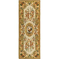 Safavieh Hand-hooked Rooster Taupe Wool Runner Rug - 3' x 6'