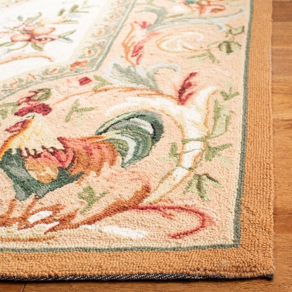 Safavieh Hand-hooked Rooster Taupe Wool Runner (3' x 6') - 3' x 6'