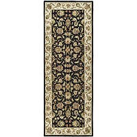 Safavieh Hand-hooked Chelsea Tabriz Black/ Ivory Wool Runner Rug - 3' x 6'