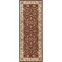 Safavieh Hand-hooked Chelsea Tabriz Burgundy/ Ivory Wool Runner Rug - 3' x 10'
