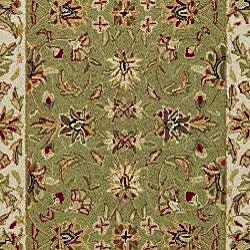 Safavieh Hand-hooked Chelsea Tabriz Sage/ Ivory Wool Runner (3' x 6') - Thumbnail 2